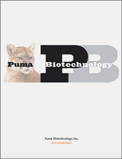 Puma Biotechnology 2012 Annual Report